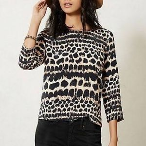 4 for$25 Anthropologie Maeve leopard print silk to